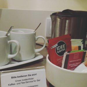 Kaffee im Hotel - Unbezahlte Werbung